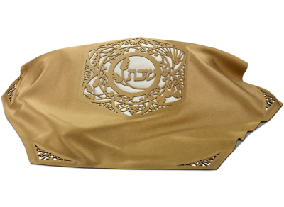 hexagonal Challah Cover Gold