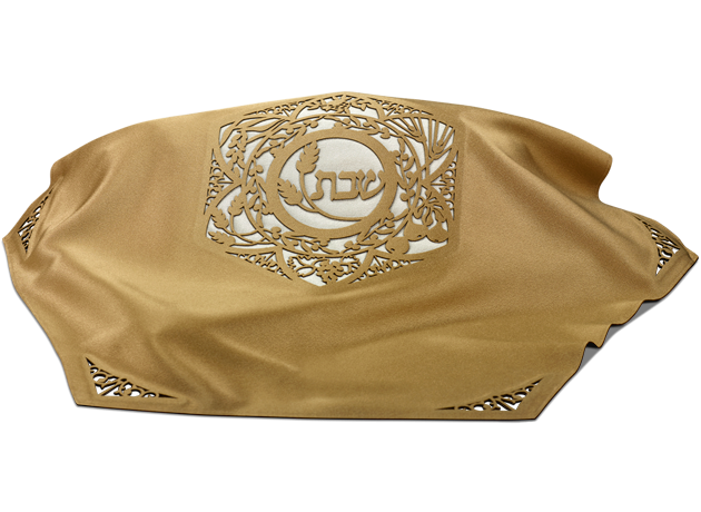 hexagonal Challah Cover Gold