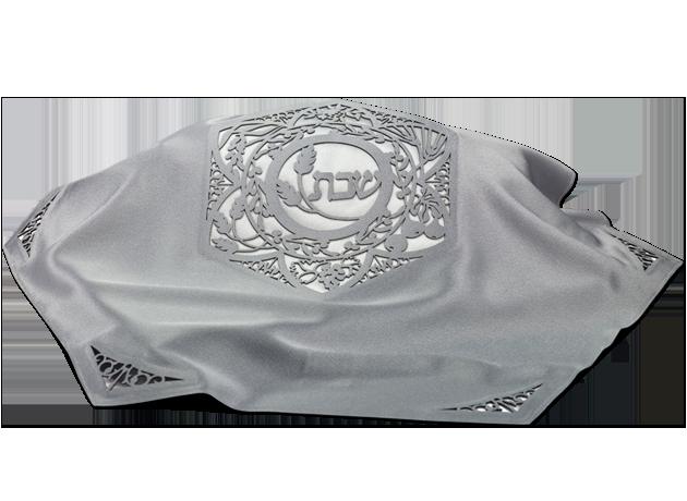 hexagonal Challah Cover Silver