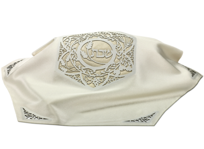 hexagonal Challah Cover White