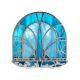 Rhodium Plated Vitrage Hanukiah