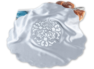 Silver Blooming Challah cover