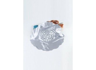 Bluish Silver Blooming Challah cover